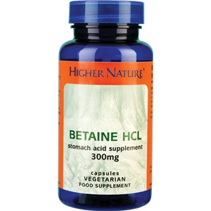 Higher Nature Betaine HCL 90 veg caps