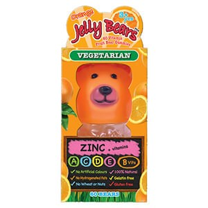 Jelly Bears Zinc + Vitamins - Orange Flavour 60 Bears