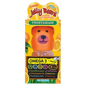 Jelly Bears Omega 3 + Vitamins - Orange Flavour 60 Bears