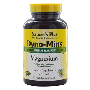 Natures Plus Dyno-Mins Magnesium 250mg Tablets 90 Tabs
