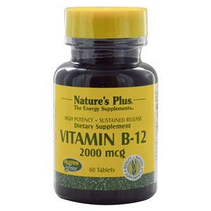 Natures Plus Vitamin B-12 2000 mcg - Sustained Release Tablets 60 Tabs