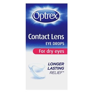 Optrex Contact Lens Eye Drops for Dry Eyes 10ml