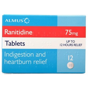 Ranitidine 75mg Tablets 12 Tablets