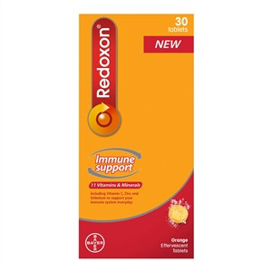 Redoxon Immune Support 11 Vitamins & Minerals - Orange Effervescent Tablets 30 tabs