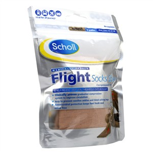 Scholl Flight Socks Sheer 4-6 / Natural 2 pairs