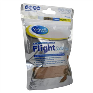 Scholl Flight Socks Sheer 6.5-8/ Natural 1 pair