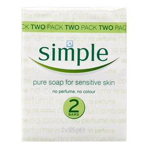 Simple Pure Soap for Sensitive Skin 2 x 125g