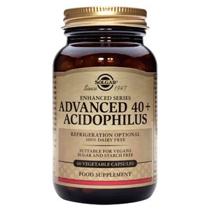Solgar Advanced 40+ Acidophilus (Non-Dairy) Vegetable Capsules 120 caps