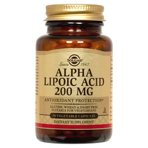 Solgar Alpha Lipoic Acid 200mg Vegetable Capsules 50 Vegicaps