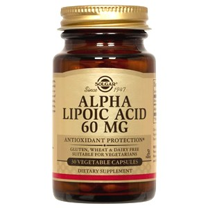 Solgar Alpha Lipoic Acid 60mg Vegetable Capsules 30 Vegicaps