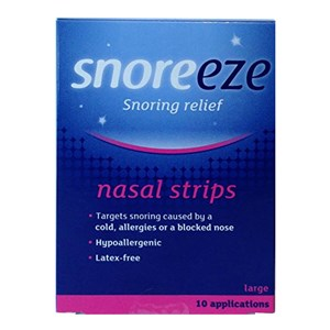 Snoreeze Snoring Relief Nasal Strips - Large 10 Strips