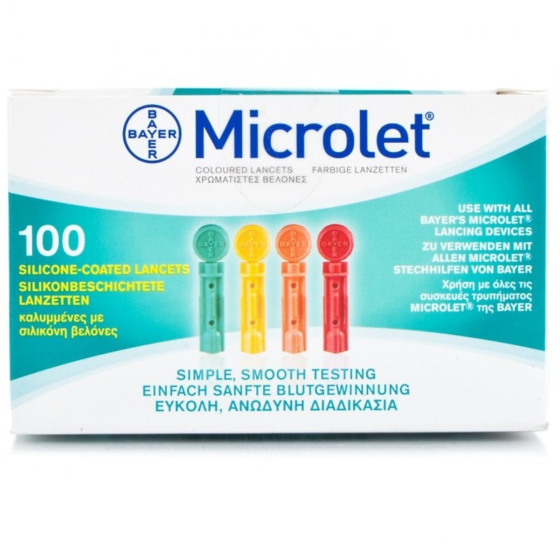 Bayer Microlet Coloured Lancets 0.5mm/28g