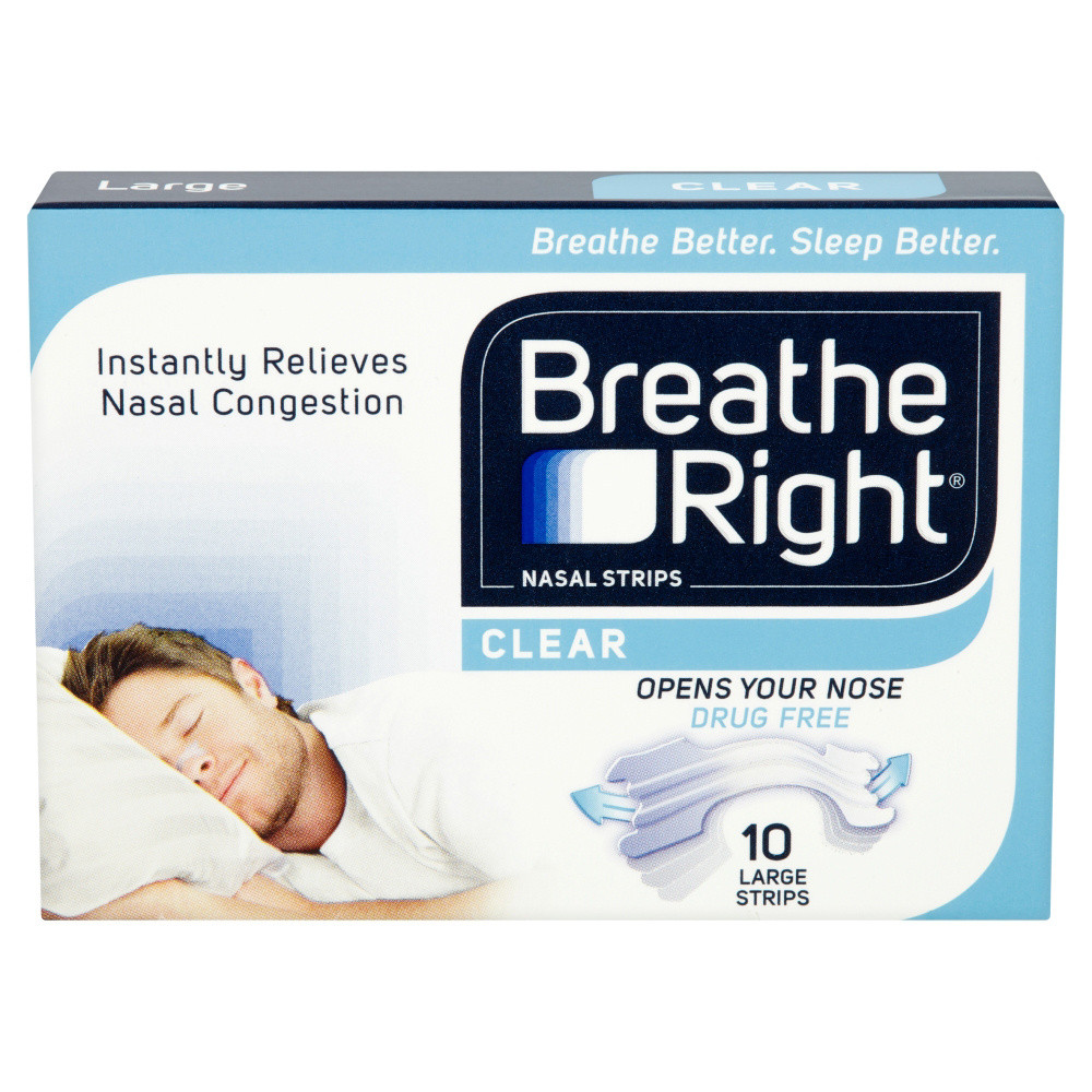 Breathe Right Nasal Strips Clear Large - 80