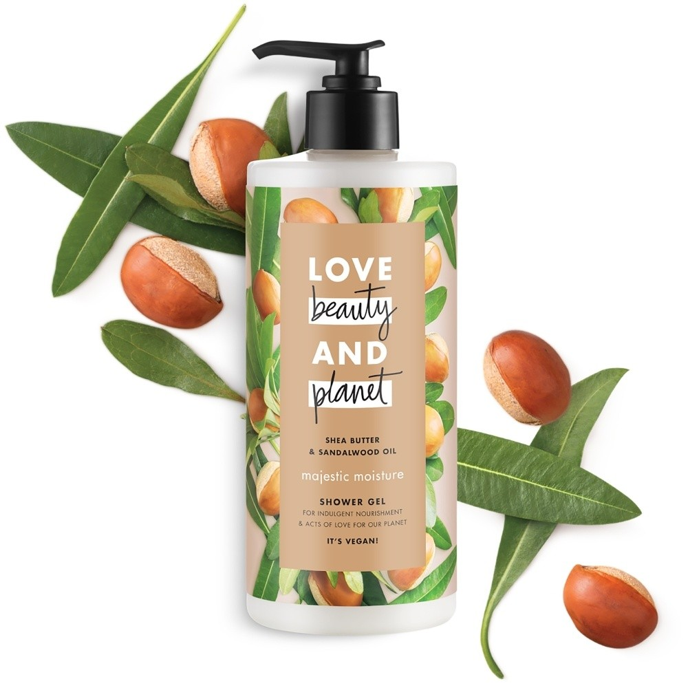 Love Beauty And Planet Vegan Shower Gel Shea Butter & Sandalwood Oil Majestic Mo