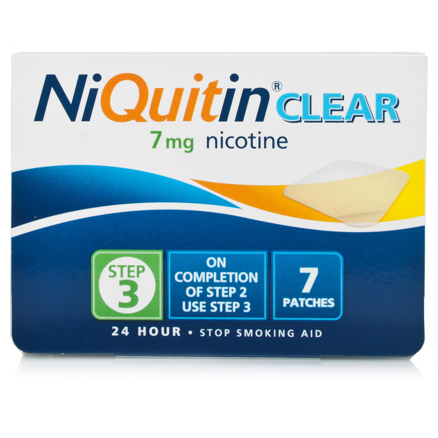 NiQuitin Clear 7mg Patches Step Three