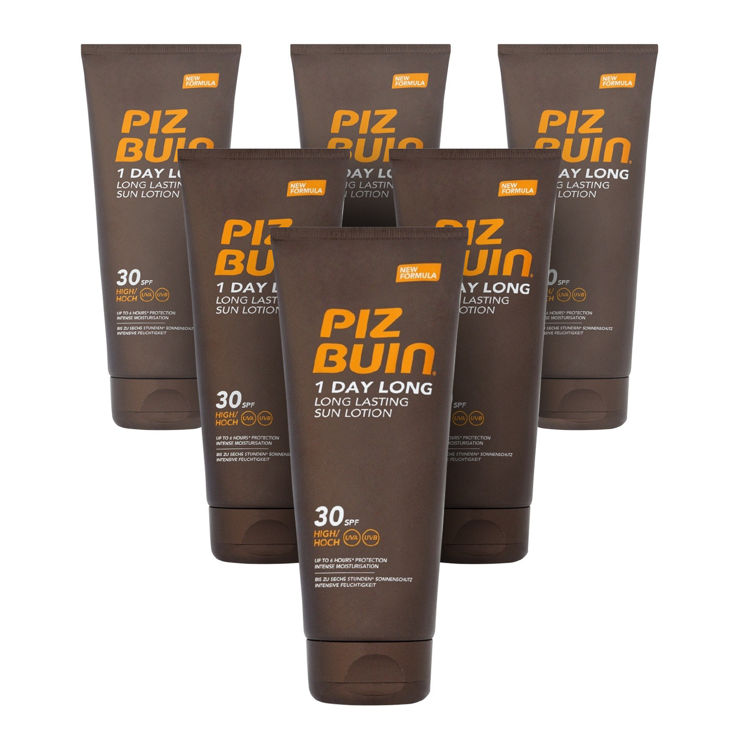 Piz Buin 1 Day Long Lotion SPF30 - 6 Pack