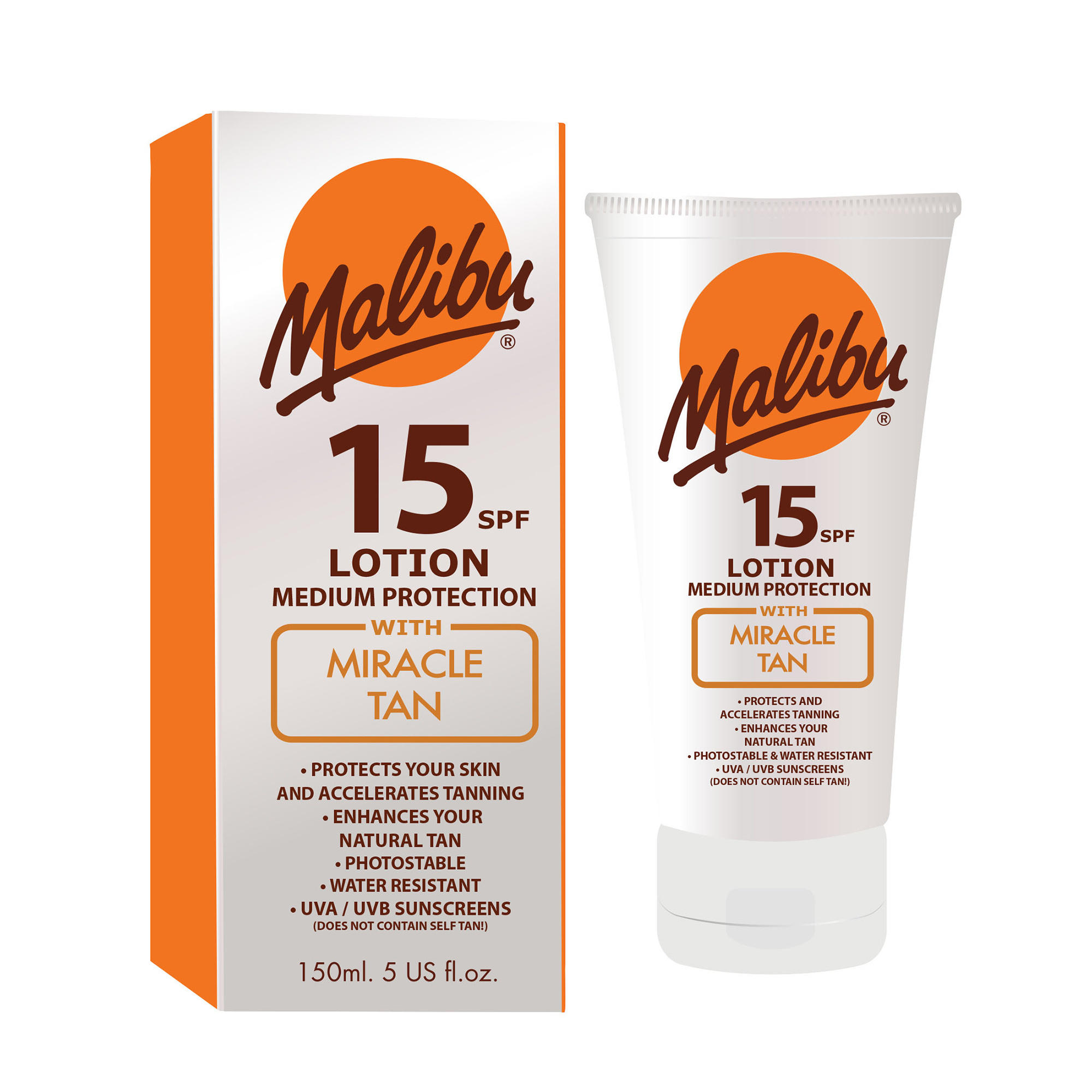 Malibu Lotion with Miracle Tan SPF15