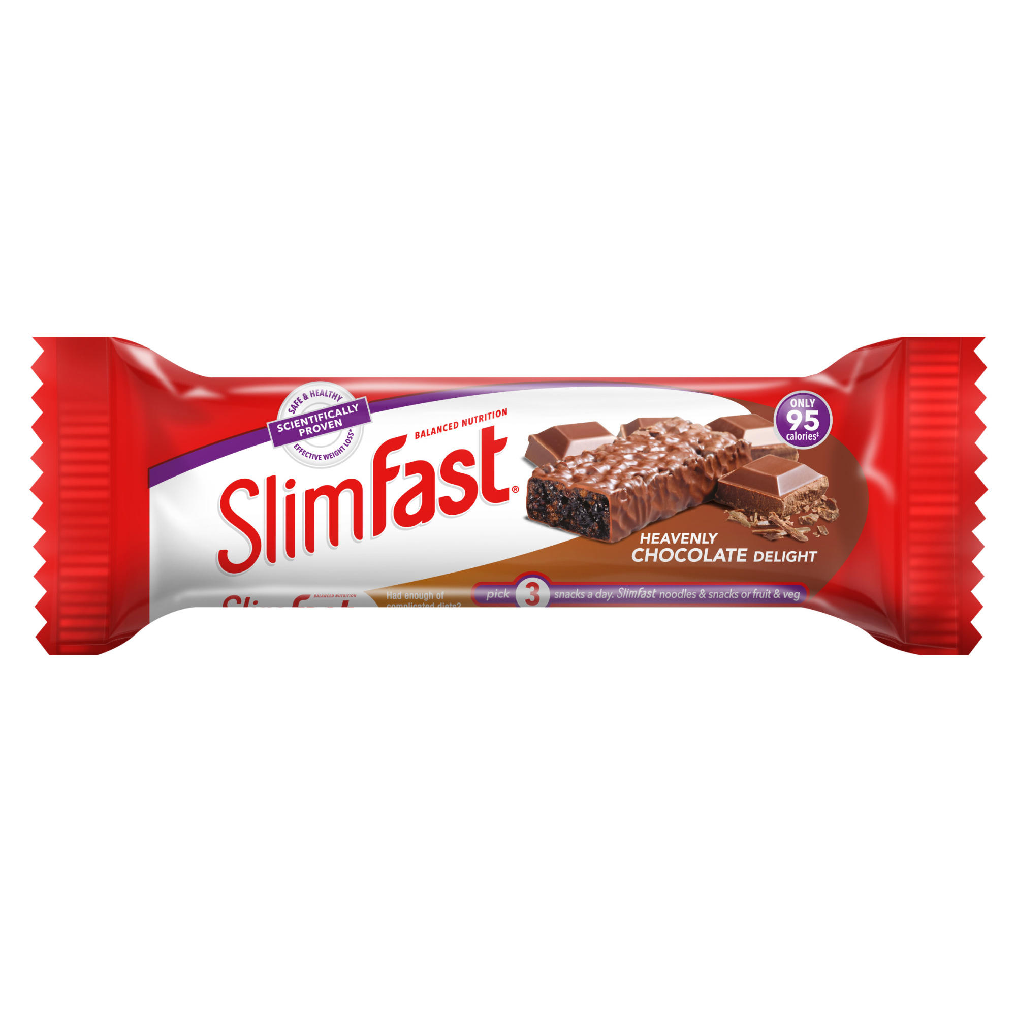 Slimfast Heavenly Chocolate - 12 Snack Bars