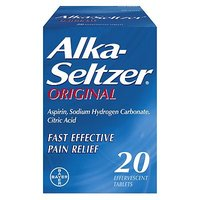 Alka-Seltzer Original 20 Effervescent Tablets