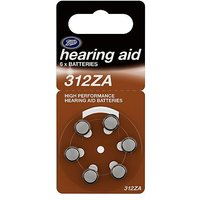 Boots Hearing Aid Batteries 312ZA - 6 Pack