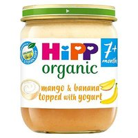 HiPP Organic Fruit Layer Mango & Banana Topped with Yogurt 160g