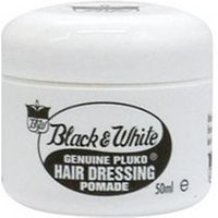 Black and White Pluko Hair Dressing Pomade 50ml