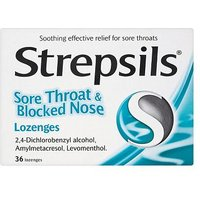 Strepsils Sore Throat and Blocked Nose Lozenges - 36 pack