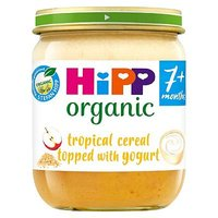 HiPP Organic Breakfast Layer Tropical Cereal Topped with Yogurt 7+ Months 160g
