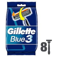 Gillette Blue 3 Disposable Razors - 8 pack