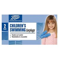 Boots Childrens Swimming Earplugs (2 Pairs with Carry Case)