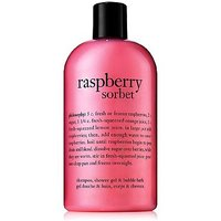 philosophy raspberry sorbet 3 in 1 shampoo, shower gel & bubble bath 480ml