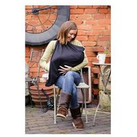 Mamascarf Cotton Breastfeeding Scarf - Black