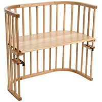 Babybay Bedside Cot with Baby Mattress & Side Rail - Beech