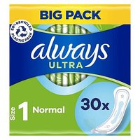 Always Ultra Sanitary Towels Normal without Wings x30 pads