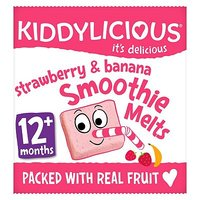 Kiddylicious Strawberry & Banana Smoothie Melts 6g