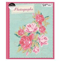 Anker Mint & Pink Flowers Self Adhesive Photo Album 4x6 - 25 sheets