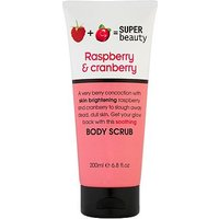 Super Beauty Raspberry and Cranberry Body Scrub 200ml