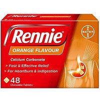 Rennie Orange Flavour - 48 Tablets