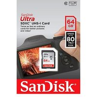 SanDisk ULTRA Secure Digital Memory Card- 64GB - Class 10