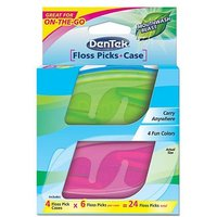 DenTek Floss Pick & Case 2 x cases (12 floss picks)