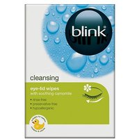 Blink Lid-Clean Cleansing Eye-Lid Wipes - 20 Wipes