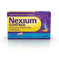 Nexium Control 20mg Gastro-Resistant Tablets - 7 Tablets