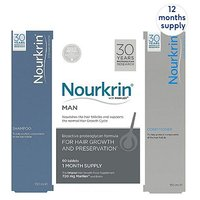 Nourkrin Man 12 months + Free 4x Nourkrin Shampoo & Scalp Cleanser 150ml & 4x Nourkrin Conditioner 150ml