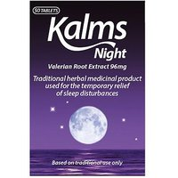 Kalms Night Valerian Root Extract 96mg - 50 Tablets