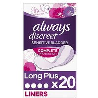 Always Discreet Incontinence Liners Plus x 20
