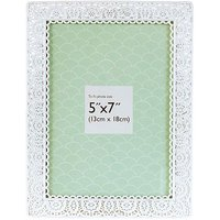 Innova Editions White Laser Cut Photo Frame- 7 x 5