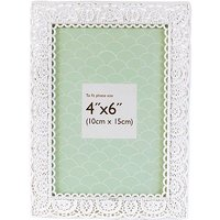 Innova Editions White Laser Cut Photo Frame- 6 x 4