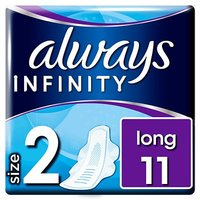Always Infinity Long Sanitary Towels With Wings 11x
