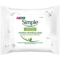 Simple Kind to Skin Cleansing Wipes Micellar 25s
