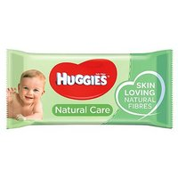 Huggies Baby Wipes Natural Care Singles 56